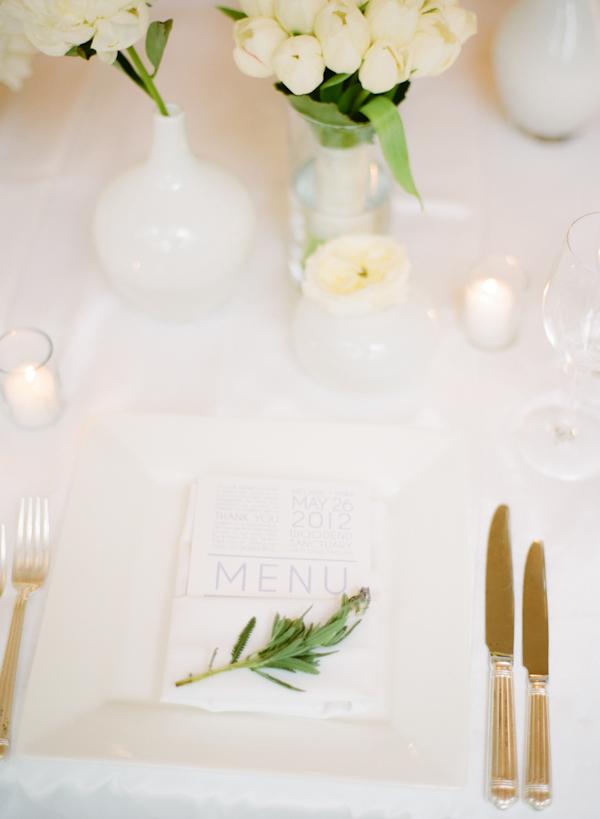 minimalistyczny ślub wystrój