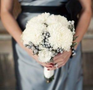 chryzantema bukiet ślubny