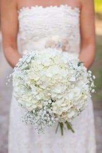 hortensja bukiet ślubny