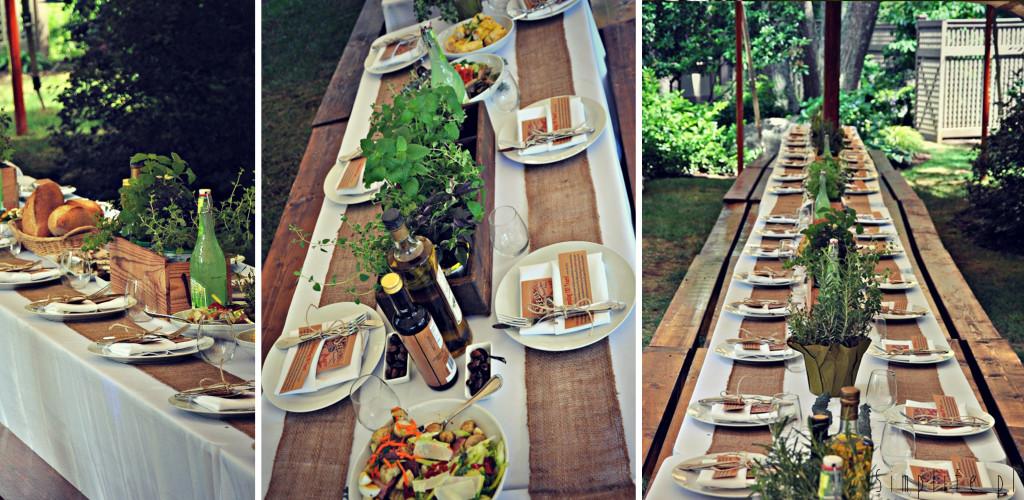 stół weselny ciekawy