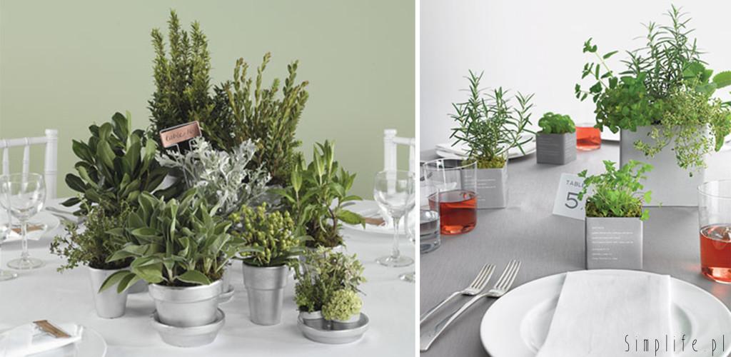 zioła-na-stole-ślubnym