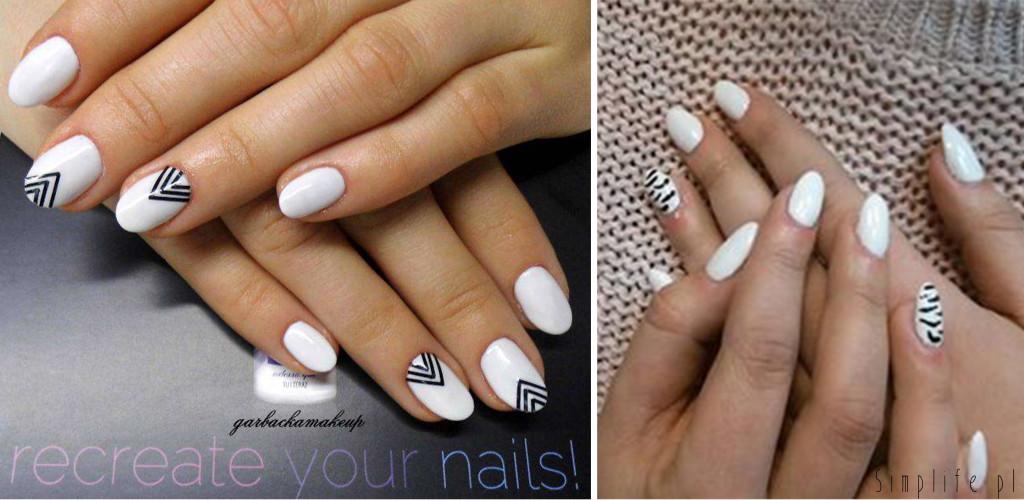 paznokcie-ślubne-biało-czarne