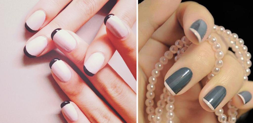 paznokcie-ślubne-french-ciemny