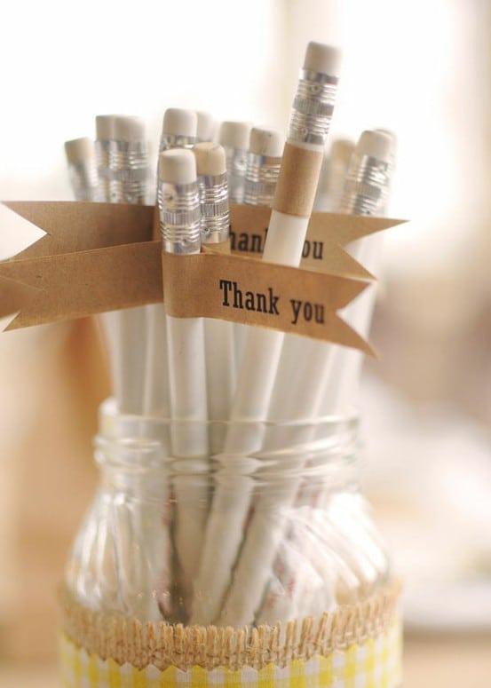prezenty dla gosci weselnych olowki