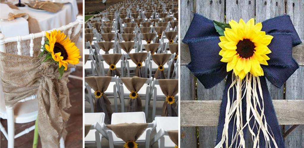 słonecznik krzesła wesele