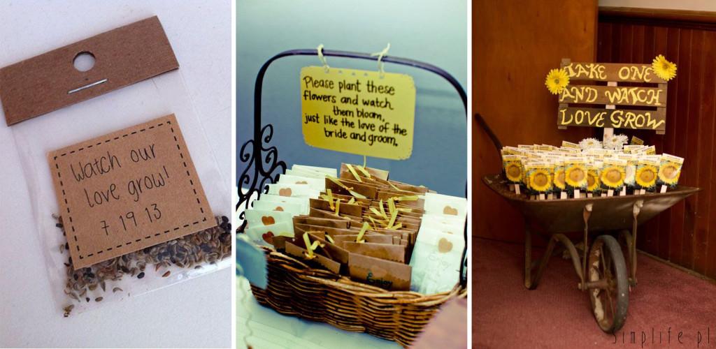 słonecznik prezenty dla gości