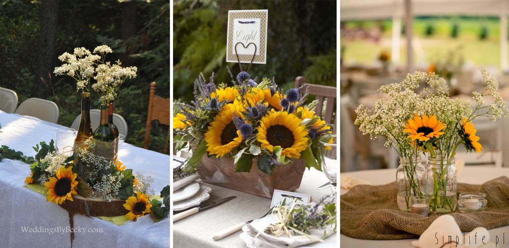 słonecznik-stół-weselny