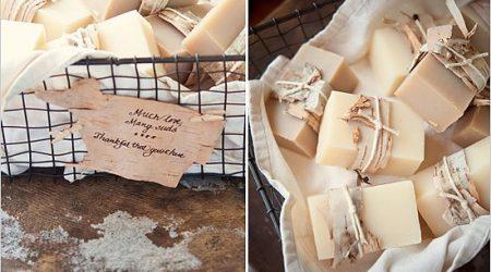 Minimalistyczne upominki dla gości weselnych DIY.