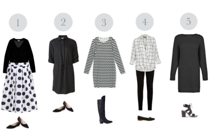 elegancki zestaw ubrań