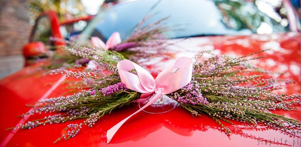 dekoracja samochodu wesele