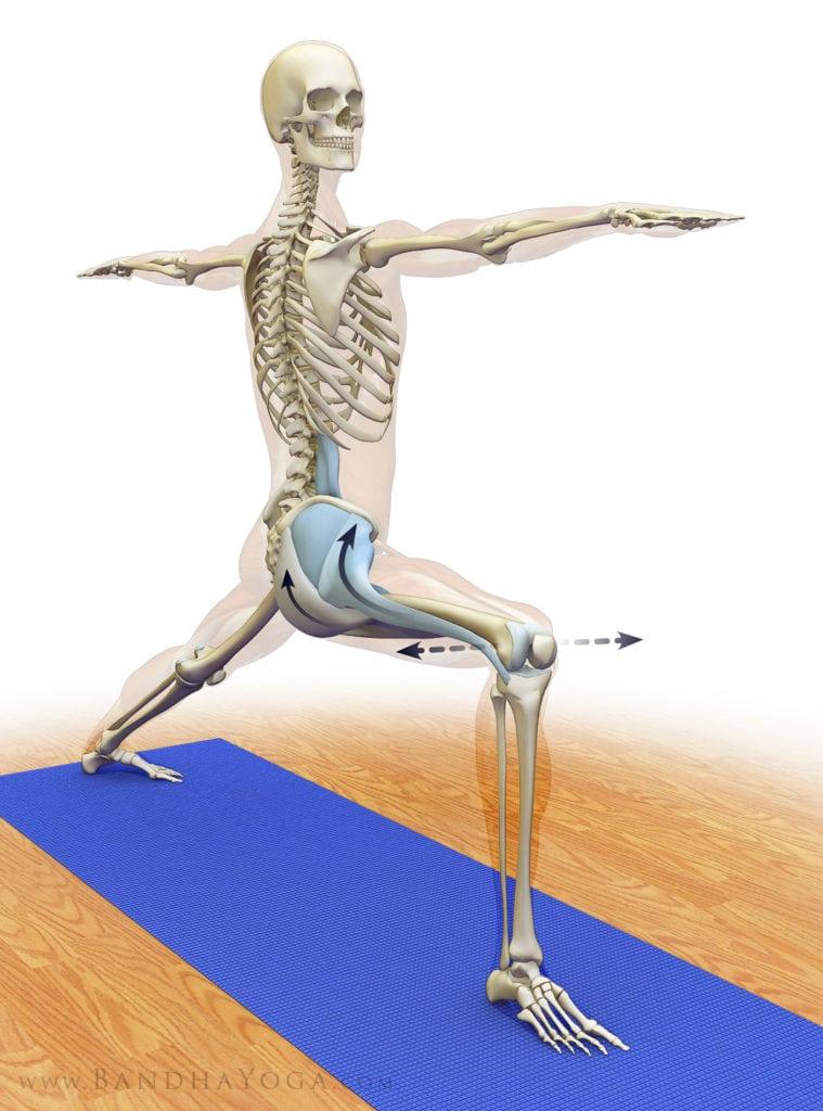 pozycje jogi - wojownik joga - w domu