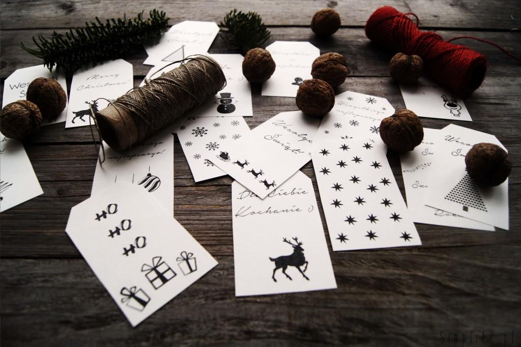 bileciki do prezentów do wydrukowania