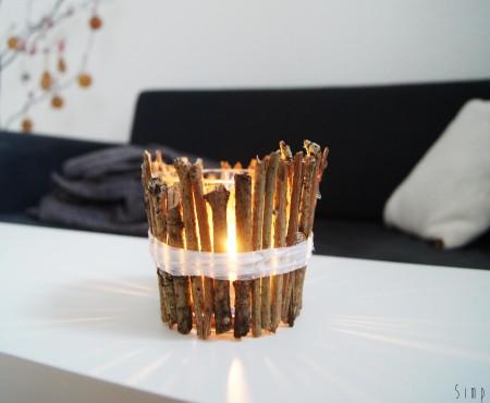 Jak zrobić świecznik z gałązek, czyli nasze ozdoby świąteczne.