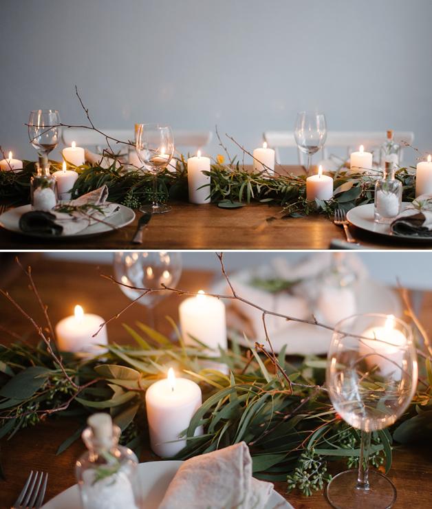 stół wigilijny ozdoby