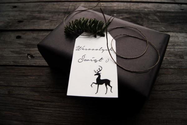 Świąteczne bileciki do prezentów