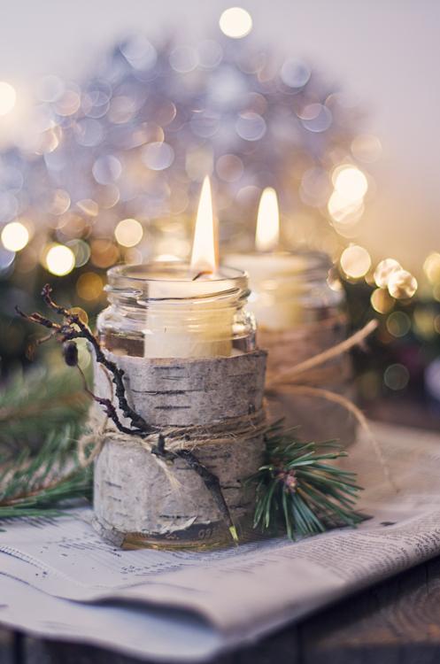 świece świąteczne diy