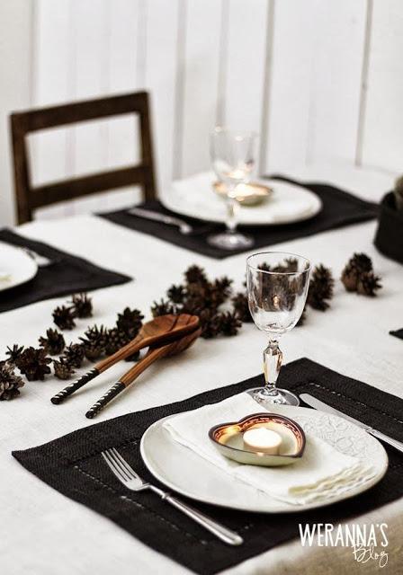 szyszki na stół wigilijny