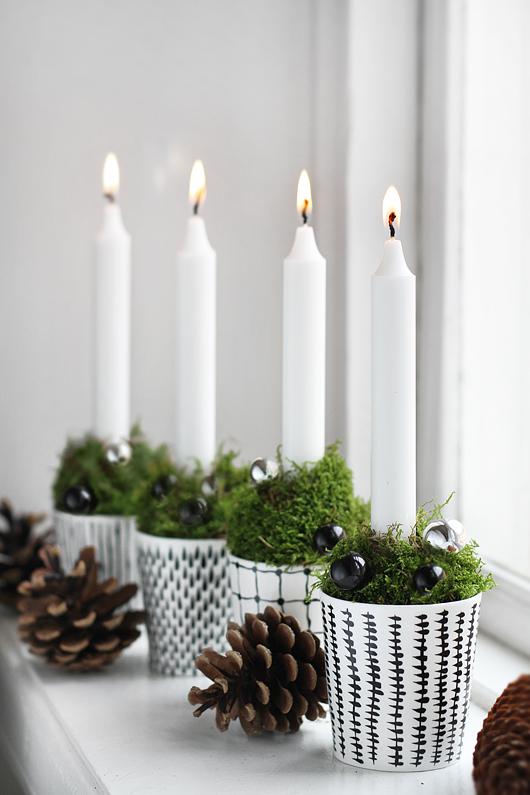 wystrój świąteczny świeczki