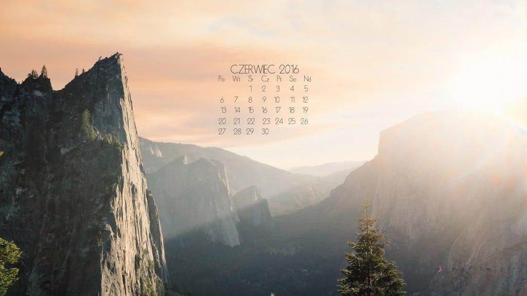 tapeta z kalendarzem czerwiec