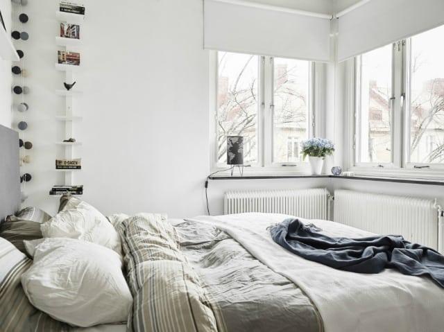 jasna skandynawska sypialnia