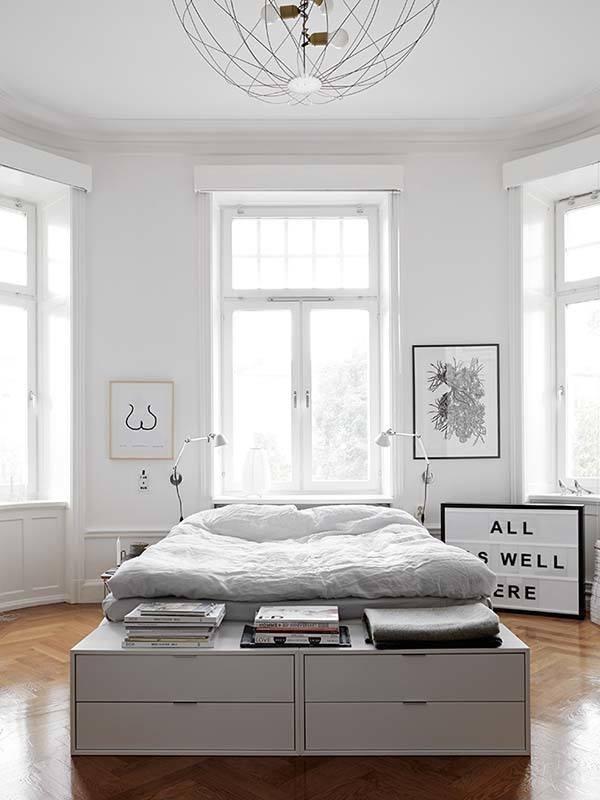 jasna sypialnia skandynawska