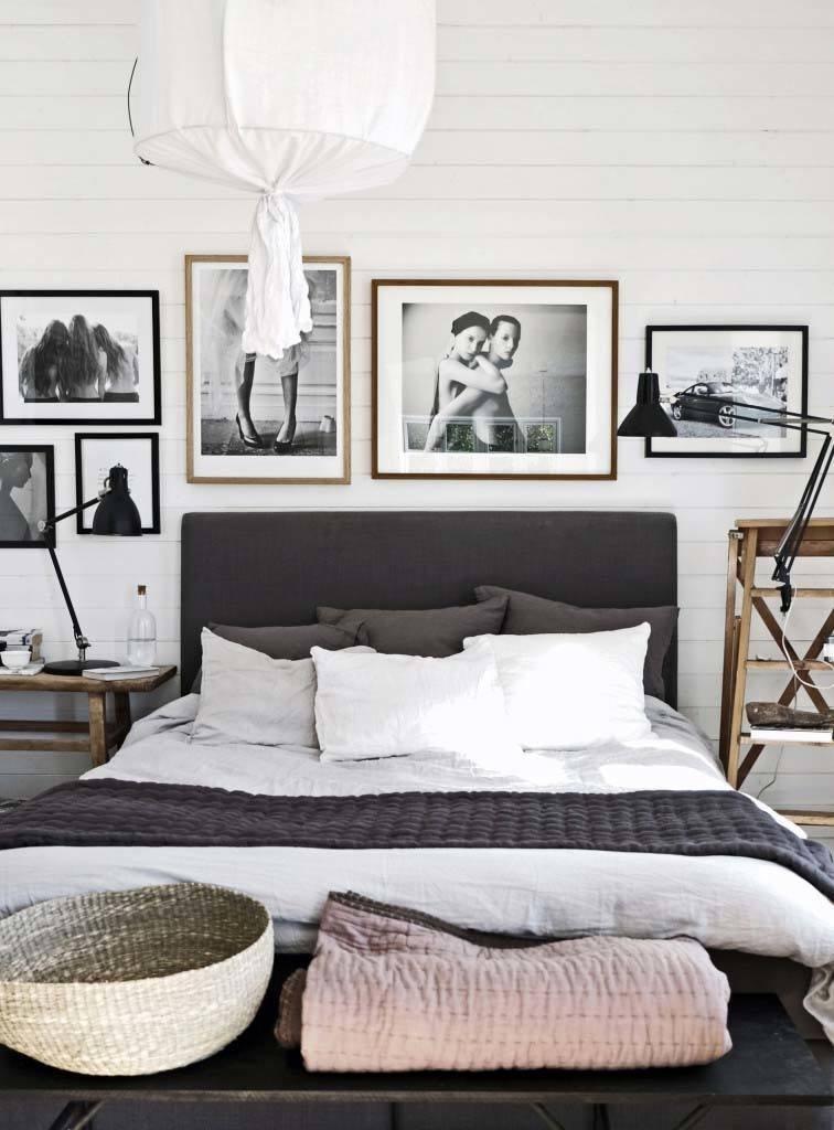 ramki na zdjęcia sypialnia