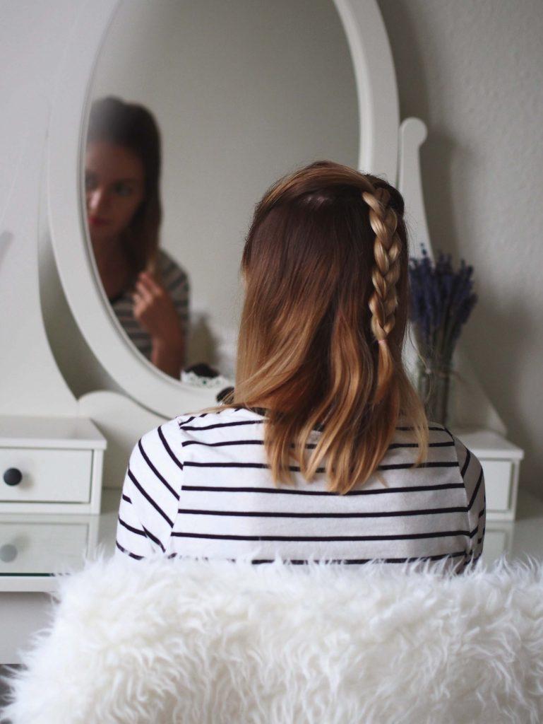 włosy półdługie warkocz