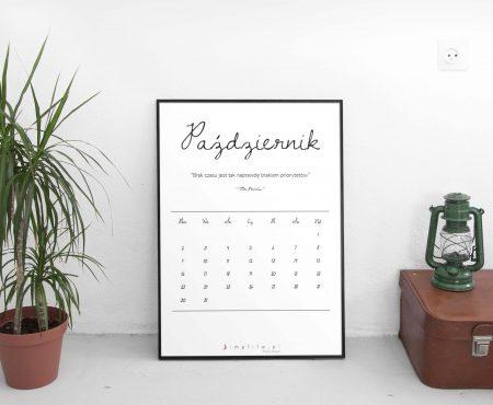 Minimalistyczny kalendarz do druku na 2017.