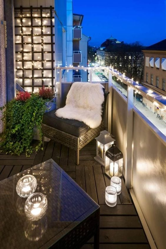 lampki na balkon