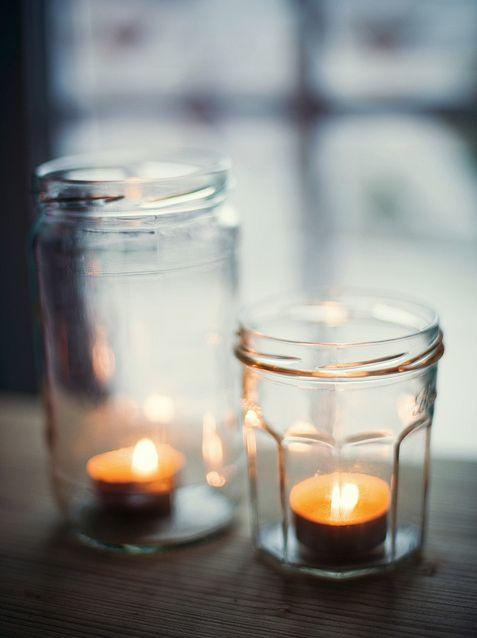 świeczki w słoiku