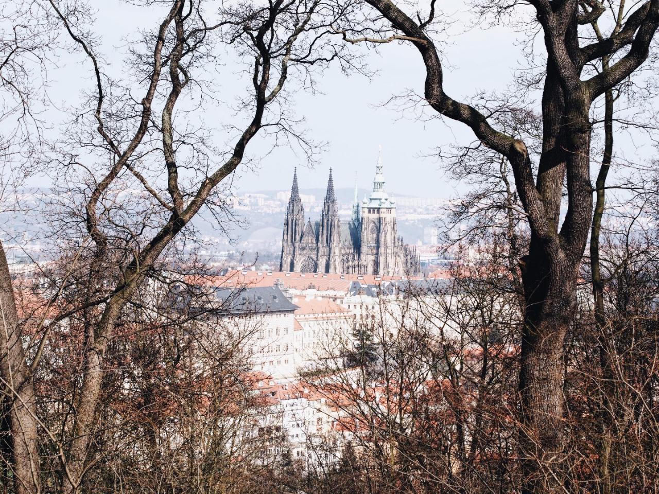 widok wzgórze petrin