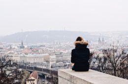 widok na panoramę Pragi