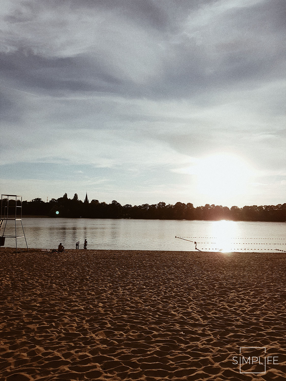 plaża zachód słońca
