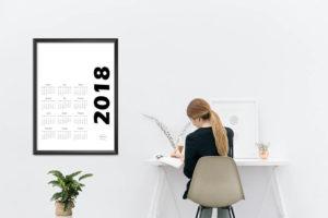 kalendarz 2018 cały druk