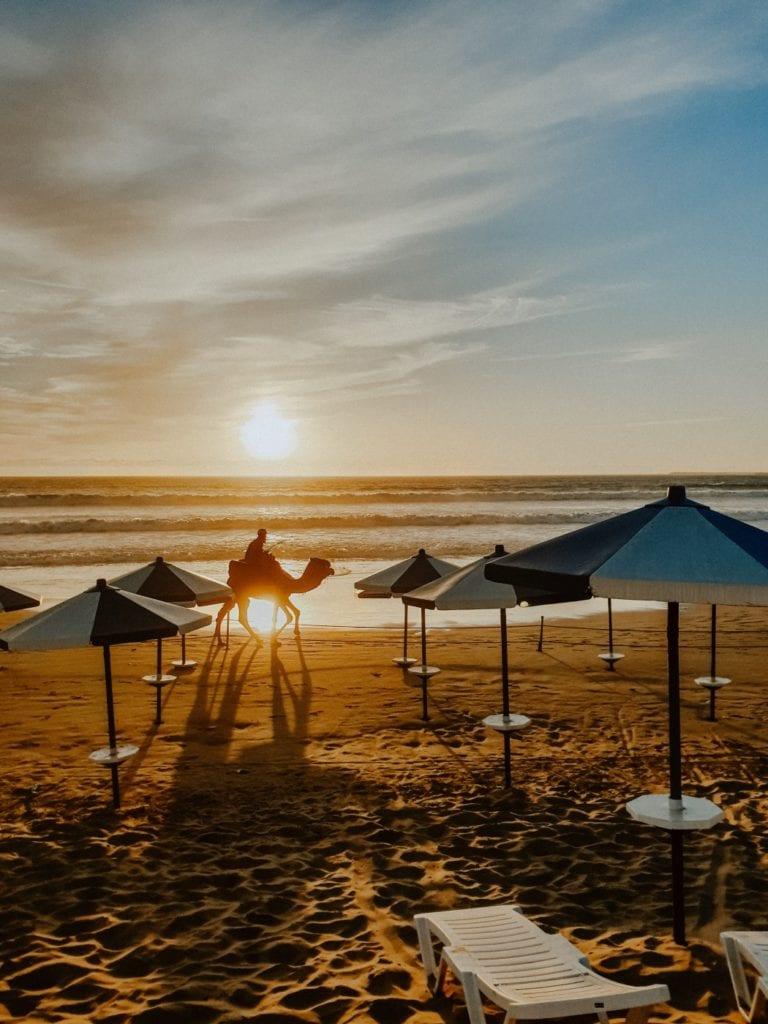 Maroko zachód słońca