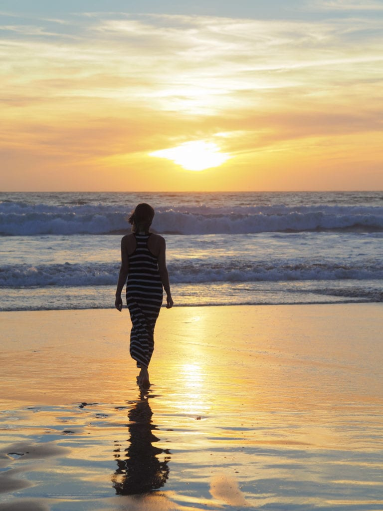 maroko plaża zachód
