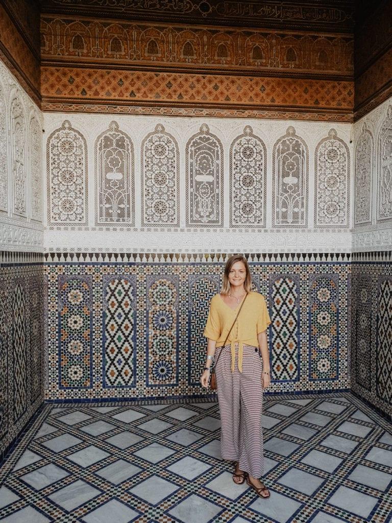 Pałac El-Bahia maroko