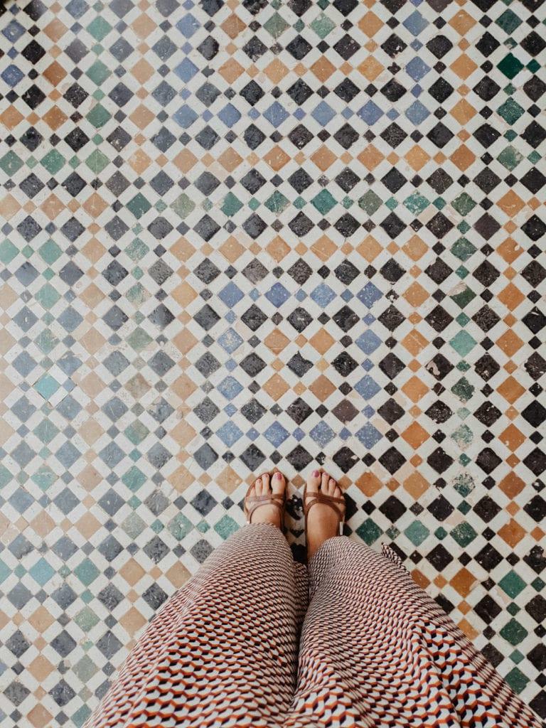 Pałac El-Bahia mozaiki