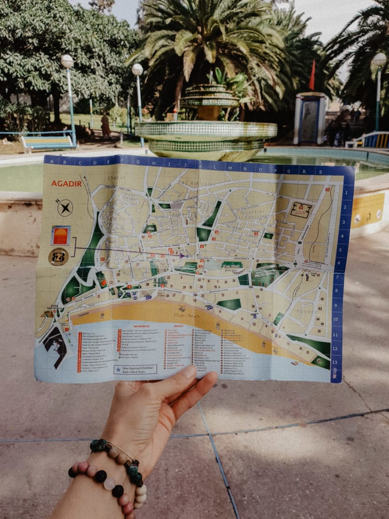 agadir mapa