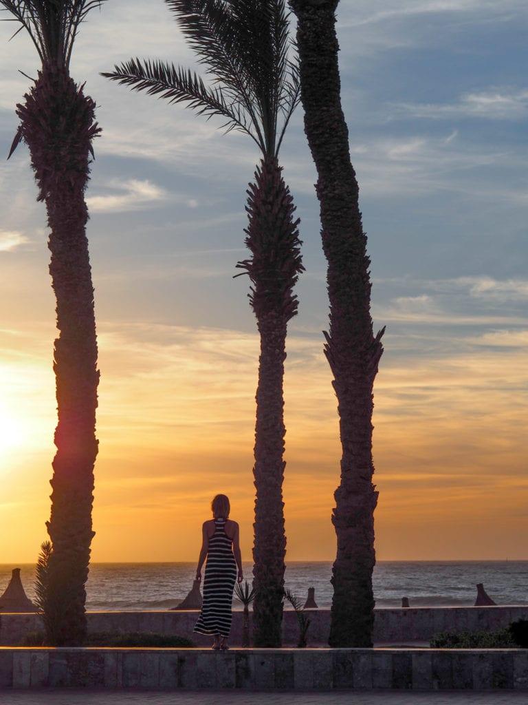 zachód słońca agadir