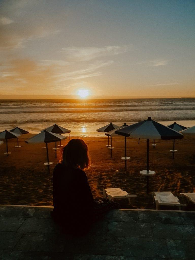 zachód słońca w maroko