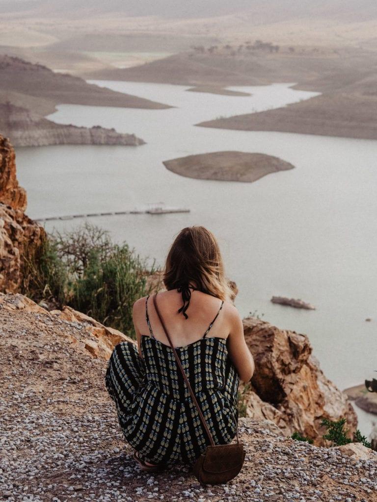 Zbiornik retencyjny w górach Antyatlas
