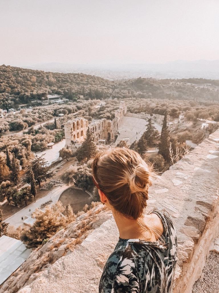 ateny widok na akropol