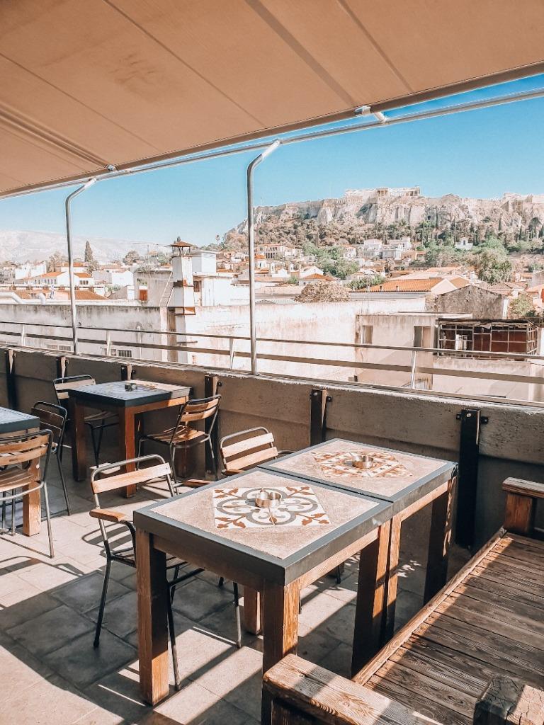 widok na akropol restauracja