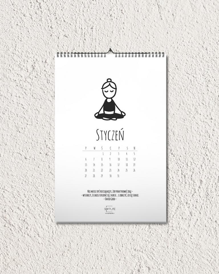 2020 kalendarz joga