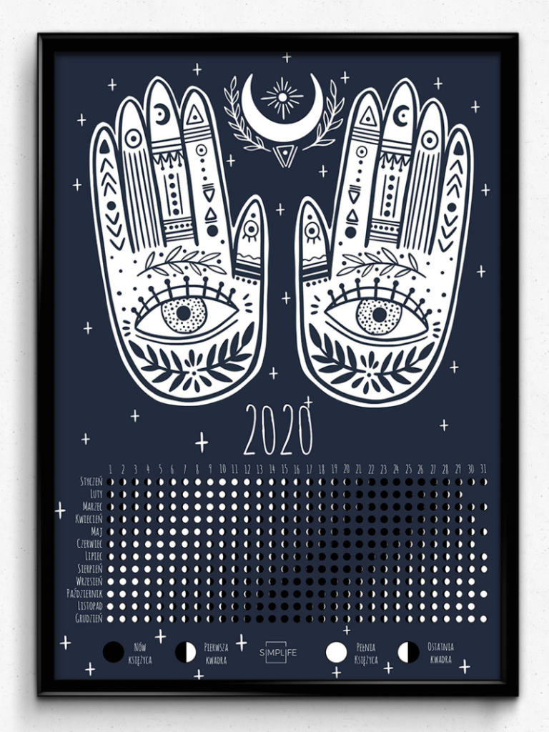 prezent dla joginki kalendarz