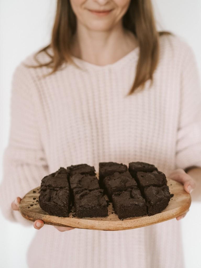 wegańskie brownie wykorzystanie fusów po kawie