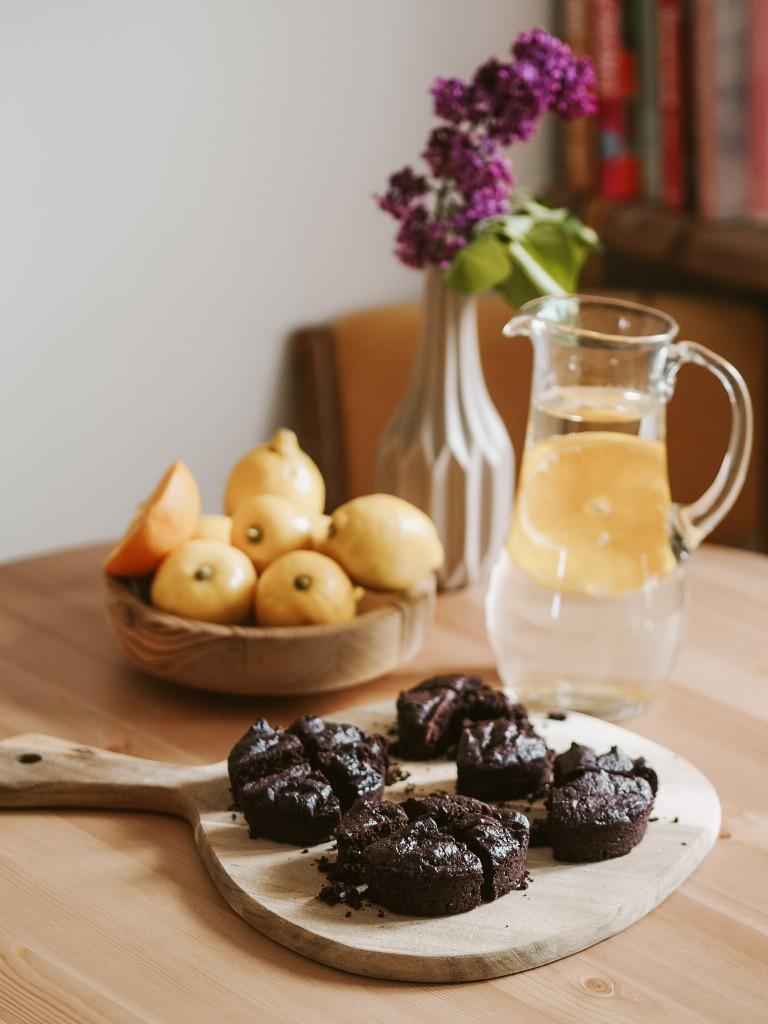 wegańskie brownie z fusów po kawie